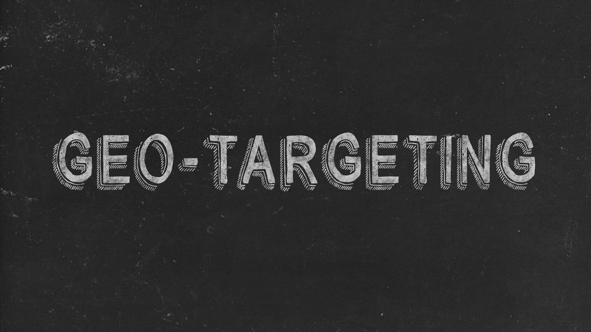 Geo-Targeting Black Image