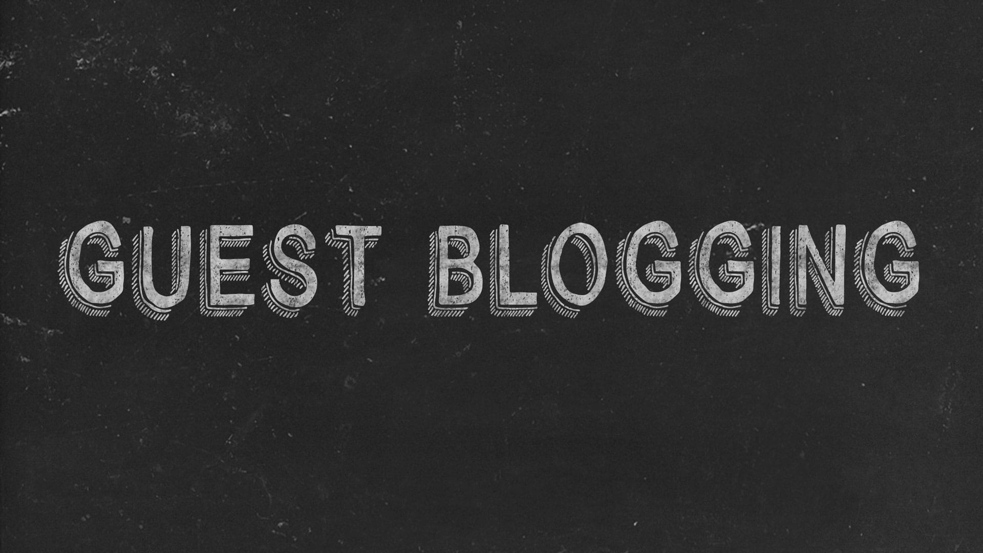 Guest Blogging Black Image
