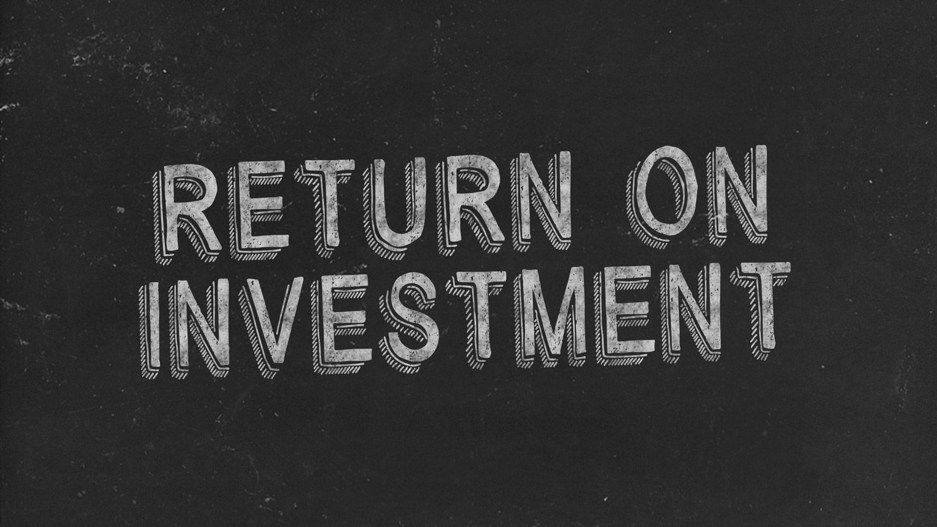 Return on Investment Black Image