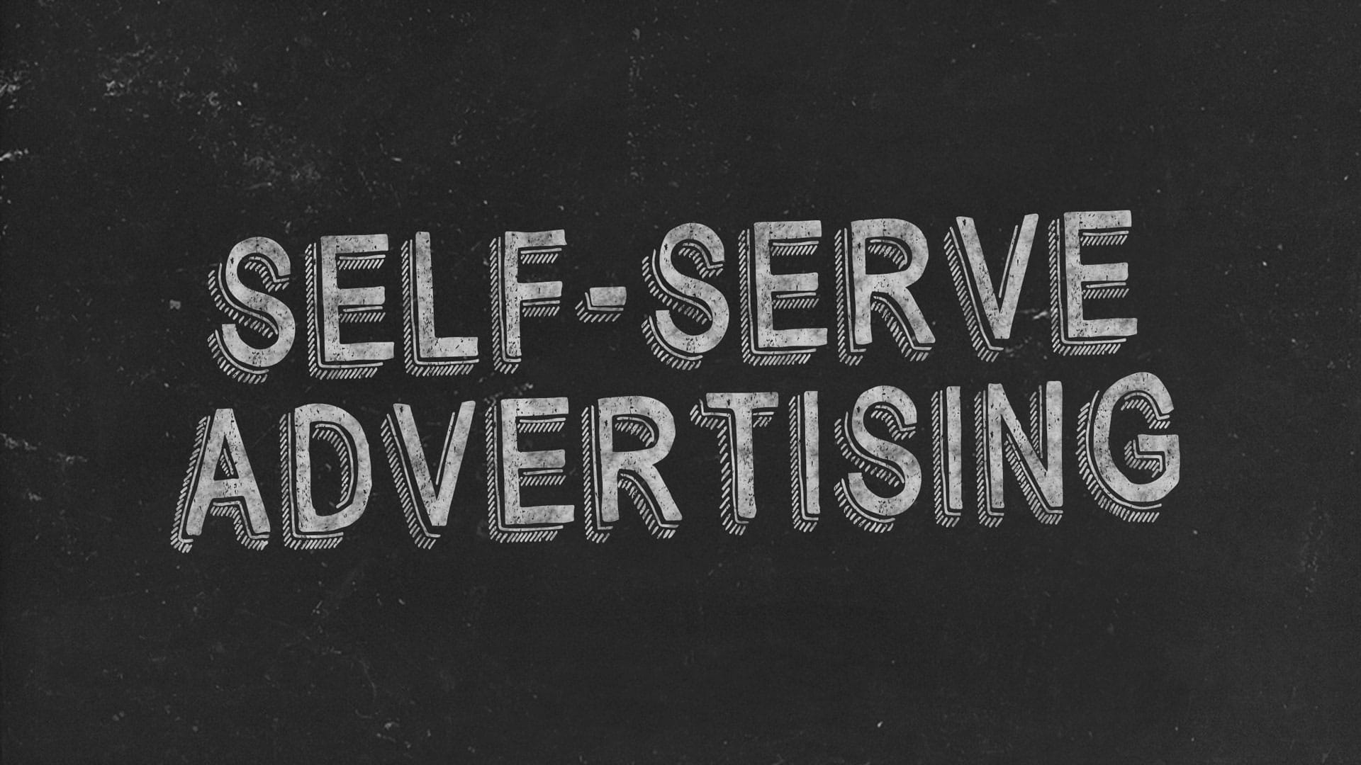 Self-Serve Advertising Black Image