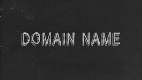 Domain Name Black Image