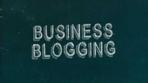 Business Blogging Green Image