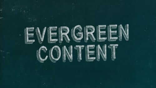 Evergreen Content Green Image