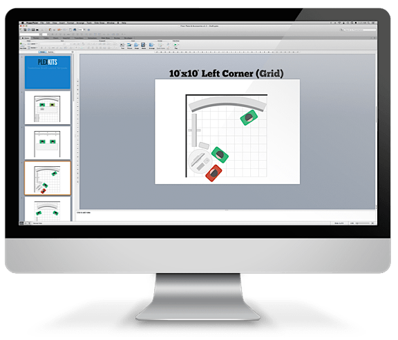 tradeshow booth layout screenshot