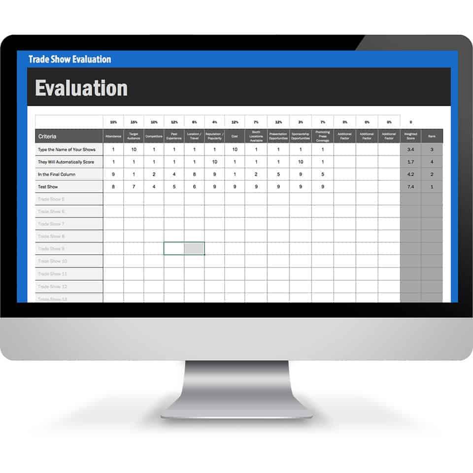 Tradeshow Evaluation Template tradeshow evaluation featured