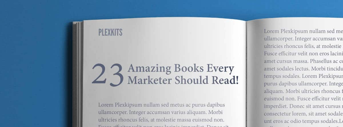 23 Amazing Books Every Marketer Should Read - Book Mockup
